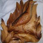 Chřástal polní, lipové dřevo, 35cm x 50cm x 12cm